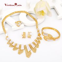 Wholesale Mexican Painted Plate - Westernrain Wedding Gold jewelry The white paint Party Anniversary Engagement Fashion & Costume Women's Jewelry Sets A406