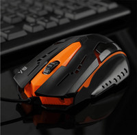 3200 DPI Silence Click USB Wired Gaming Mouse Gamer 6 B / uttons Ergonomia óptica Computador Mice para PC Mac Laptop Game LOL Dota