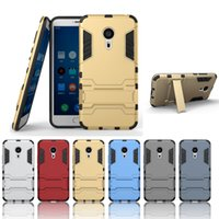 Wholesale Robot Stand Case - Dual Layer Heavy Duty Defender Armor Stand Hybrid TPU & PC Combo Robot Hard Cover Case For Meizu MX5 Pro MX5PC01