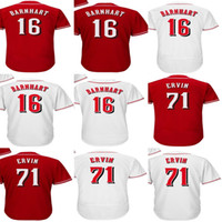 Wholesale Womens 16 - Factory Outlet Custom Mens Womens Kids Cincinnati 16 Tucker Barnhart 71 Phillip Ervin Home Away Alternate Flex Cool Base Baseball Jerseys