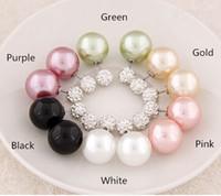 Wholesale Earring Korea Design - Hottest Sale 19Colors Korea Design Big Pearl (15*8mm) Earrings Women Fashion Earrings Jewelry Stud Pearl Crystal Earring