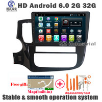 "Wholesale Mitsubishi Navigation Dvd - QZ industrial 10.1""HD Android 6.0 for Mitsubishi Outlander 2013-2017 Car DVD Player with 3G 4G WIFI Radio RDS GPS BT SWC Navigation free map"