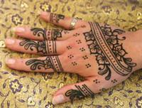 Wholesale Tattoo New Art - 100% New Natural Henna Tattoo Art Paste Temporary Tattoo Brown 6pcs lot
