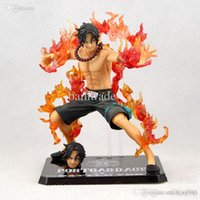 Wholesale One Year Boy - Wholesale-2015 15cm One Piece Portgas D Ace Battle Ver. Fire Fist Ace PVC Action Figure Collection Model Anime Toy Free shipping
