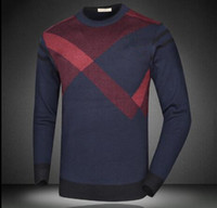 Wholesale black brown cashmere sweater - Hot sales Casual half zipper Casual men's jumper Pullover Plus size M~3xl Famous popular US Embroidey bee logo cashmere plaid men's sweater