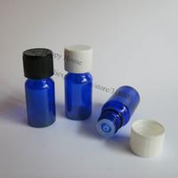 Wholesale Cobalt Blue Bottle Wholesale - Free shipping - 360 x 10ml Cobalt Blue Glass Bottle, 10CC Glass Essential Oil Bottle With Child Proof Cap, Blue Bottle