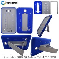 Wholesale Galaxy Tab 7inch Case - For Samsung galaxy Tab4 Tab 4 7inch T230 silicon+pc 2 in 1 Kickstand Hybrid robot Tablet PC case