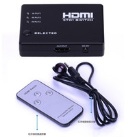 Wholesale Audio Out Splitter - HDMI Switch 3 In 1 Out HDMI Switch 3 Port Hdmi Splitter 1080P Built-in Infrared Switcher With IR Remote for Audio HDTV PS3 DVD