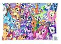 Wholesale Little Pony Cases - Cartoon My Little Pony Cotton Decorative Pillowcase Pillowslip Throw Pillow Sham Case Zippered Two Sides Printed 20x30 Inches