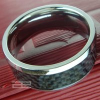 Wholesale Solid White Gold Wedding Rings - Mens women Engagement wedding Tungsten White Gold Tone solid ring size 8-13 R110