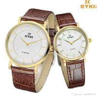 Wholesale Eyki Pair - EYKI Popular Brand Man Watch Luxurious Lovers Watch Pair Simple Plain Style Watches Fashion wedding anniversary gifts for couple