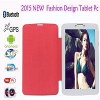 Wholesale Tablet Flash Camera Gsm - Wholesale-7inch Tablet PC MTK6572 Dual Core 4GB Android 4.4 Dual SIM Camera Flash Light GPS Phone Call WIFI Tablet 3G Phablet GSM   WCDMA