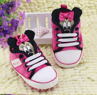 Wholesale Cheap Minnie Mouse - Wholesale-new Baby Shoes 2015 hot Pretty Cheap Sale Lastest Baby Girl First Walkers Shoes Minnie Mouse Shoes 6 Colors Baby toddler shoes