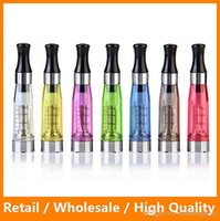 Wholesale Evo Clearomizer - Fastest Ship CE4 Atomizer Colorful CE4 Electronic Cigarette Clearomizer with Long Wick 1.6ml Adapter Suit for all EVO and Ego Battery Ecigs