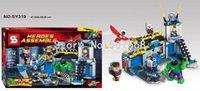 Wholesale Super Smash - New hot sale SY319 Super Heroes Hulk Lab Smash Minifigure 443PCS Assemble Building Block Toys