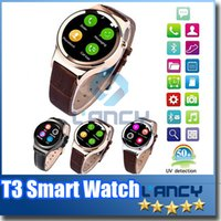 Wholesale Gps Watch Mp4 - 2016 Smart Watch T3 Smartwatch Support SIM SD Card Bluetooth WAP GPRS SMS MP3 MP4 USB For iPhone And Android