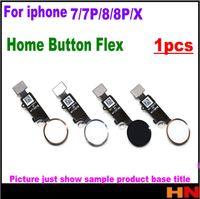 iphone renk parçaları toptan satış-IPhone X 7 Için 1 adet 7 P 8 8 P Artı Ana Düğme Flex Şerit Kablo Meclisi renk Yedek Parçalar Meclisi olmadan Dokunmatik KIMLIĞI