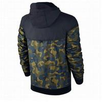 mens windproof coat toptan satış-Artı Boyutu Erkekler Ceketler Ceket Sonbahar Kazak Hoodie Kamuflaj Rüzgar Geçirmez Uzun Kollu Marka Tasarımcısı Hoodies Fermuar Erkek Giyim Kapüşonlu