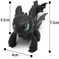Wholesale Toothless Dragon Puppet Toy - Wholesale-Perfect 8pcs set How To Train Your Dragon Puppets Toothless Display Toy Night Fury Doll Hobbies Stuffed Birthday Gift TY063