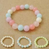 encanto del corazón de silicona al por mayor-Venta caliente de la belleza en forma de Sweety caramelo multicolor pulseras brazaletes Drop Shipping BL-0135