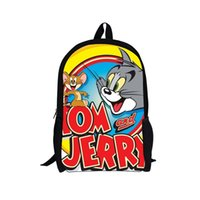 Wholesale Toms Style - Tom and Jerry school backpack bag,fashion design back packbag,cartoon children kids backpack backbag free shipping