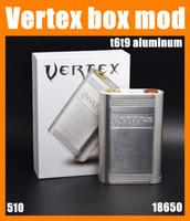 Wholesale Free Vertex - Vertex box mod vertex mod full mechanical box mods fit 3 18650 batteries vape2015 hot new products free dhl TZ506