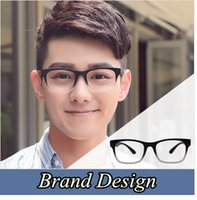 Wholesale Wholesale Brand Optical - Wholesale- 2016 Brand Design Eyewear Frames eye glasses For Men frames Male eyeglasses Computer optical Spectacle frame Myopia Plain Glass