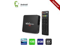 Aggiorna versione MXQ Pro Android 6.0 TV Box 1 GB DDR 8 GB EMMC Flash Amlogic S905x Streaming Media Player Full HD True 4K Riproduzione di Google Play