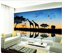 Wholesale Papel de parede Fashion silhouette TV backdrop mural wall sticker new large wallpaper wall paper costomize size