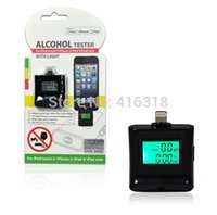 Wholesale Ipega Digital Breathalyzer - Wholesale-DHL 100pcs lot Wholesale iPega PG-I5006 Digital Backlight Alcohol Tester Breathalyzer for iPhone 6 5 5S iPad 4 Mini iPad Air
