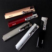 Wholesale slim lighters - Slim Jet Blue Flame Flint Wheel Cigarette Cigar Butane Gas Refillable Lighter