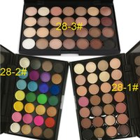 Wholesale 28 Color Eyeshadow Palette Wholesale - eyeshadow palette no logo 28 color dayly party festival makeup 3 team makeup palette size 15cm 10cm 1.5cm half Shimmer and matte