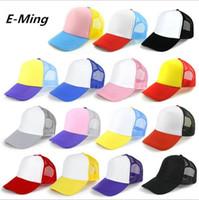 basılmış kamyon şapkaları toptan satış-5 Paneller Düz Spor Trucker Şapkalar Yetişkinler Için Ayarlanabilir Snapback Womens Womens Özel Baskı Logo Boş Beyzbol Kapaklar Snapback Mesh Güneşlik