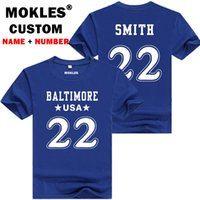 Smith 22 baltimore personalizzato nome numero maglietta Fontana California t-shirt team usa parola James Michael Colorado Abbigliamento Salva grande. Una da