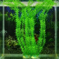 Wholesale Grass Ornaments - 30cm Underwater Artificial Aquatic Plant Ornaments Aquarium Fish Tank Green Water Grass Decor Landscape Decoration