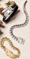 Wholesale Trendy Belt Bracelets For Women - 2016 New Twist Buckle Bracelet High Fashion Jewelry Letter Bracelet Trendy Belt Bracelets Bangles For Women And men-J213
