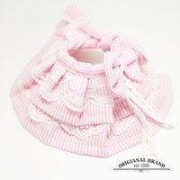 Wholesale Pink Dog Scarf - The bell Tactic small pet dog collar lace collar Scarf towel slobber leather collar tie accessories