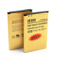 Wholesale Cheap Galaxy Batteries - Best Selling Replacement Gold battery For Samsung Galaxy S3 SIII I9300 High Capacity Gold 2850mAh 15 country and Epacket to US Cheap price