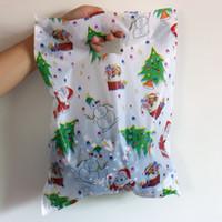 полиэтиленовый пакет для одежды оптовых-Wholesale- 2016 100pcs/lot Large Plastic Bag 30x40cm White Christmas Gift Bag Boutique Clothing Packaging Plastic Shopping Bags With Handle