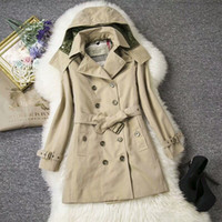 Wholesale Women S Classic Clothing - British autumn and winter new female high-end dress in the style of the classic medium long style of clothing imported cotton package