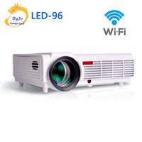 Wholesale 3d home theater screens for sale - Group buy LED96 wifi led projector D android wifi home theater hd BT96 proyector p HDMI Video Multi screen Home theater system