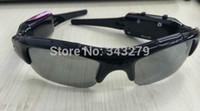 ingrosso occhiali da sole video-10pcs Occhiali da sole Videocamera DVR Registratore audio Mini DV DVR senza fili Occhiali da sole Fotocamera Spedizione gratuita