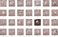 Wholesale Vintage Sterling Silver Girl Charm - Hot selling plated 925 Sterling Silver Charms Rings Vintage Rings Women girls ring 30 Styles choose 10pcs lot