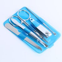 Daily Use Nail Care Professional Manicure Set Clippers Scissors Cleaning Tool Kit 5 Pcs Good Quality