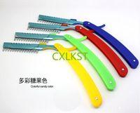 Wholesale Hair Cutting Razor Blades - Professional Thinning Knife Hair Cutting Plastic Handle Barber Hair Styling Razor Blade Holder