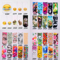 Wholesale Cheap Brand Socks - 264 Design 3D Socks Collection Kids Women Men Hip Hop 3D Odd Socks Cotton Skateboard Socks Emoji Skull Printed Cheap