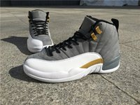 Wholesale Cool Boxes Fishing - Original Box Wholesale Air Retro 12 Cool Grey Gold Men Basketball Shoes Real Carbon Fiber Sports Sneakers Outdoor Trainers Top Quality