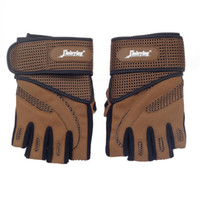 Wholesale Xinluying Fitness - Wholesale-K133229NEW XinLuYing High Quality Professional Anti-Skid Fitness Half-Finger Gym Gloves with khaki palm protect Durable Non-slip