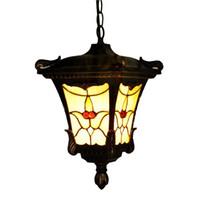 ingrosso lampade a benna-Lampade a sospensione all'aperto d'epoca europea impermeabile cortile balcone lampade a sospensione all'aperto balcone corridoio lampada a sospensione luce