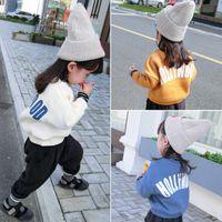 gefälschte dosen großhandel-Kann Custom Girls Winterkleidung gefälschte zwei dicke plus Samt Kinder Pullover Mädchen Baby Kinder Shirt 1-6 Jahre alt